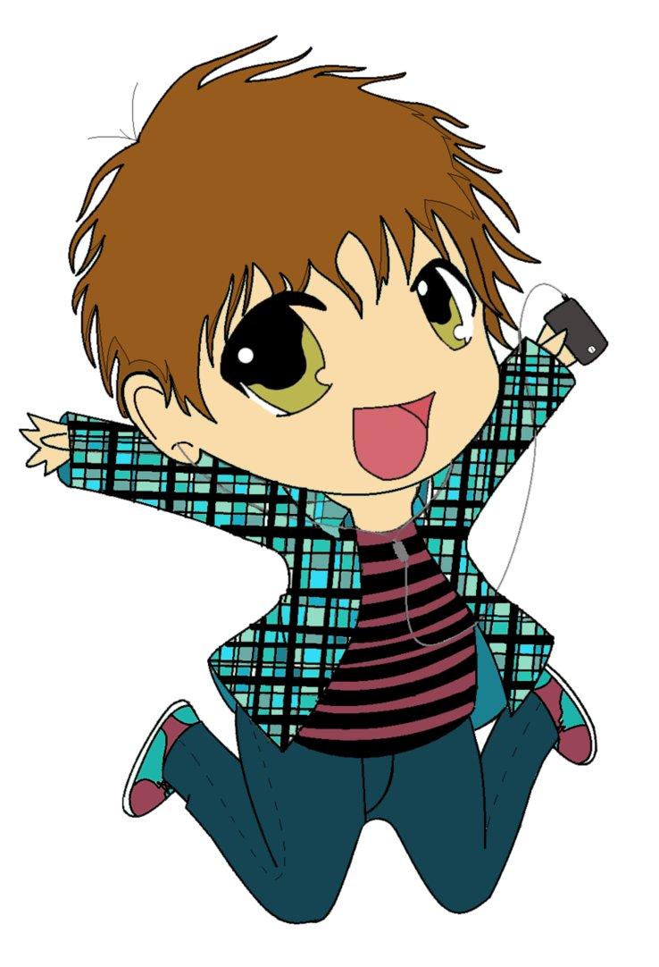 Manga clipart happy boy Lucky Chibi Go Chibi DeviantArt