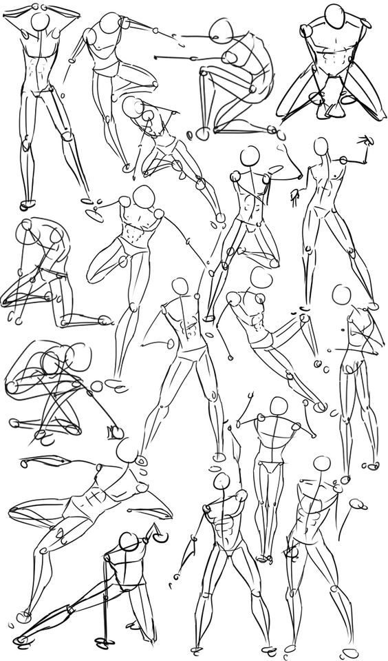 Manga clipart male pose Human How Action to ideas