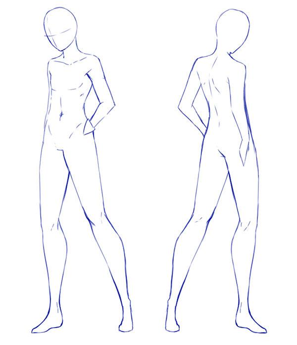 Manga clipart male pose NO Clothes dono Base Help