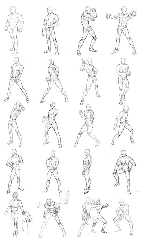 Manga clipart male pose By male poses poses Stuff