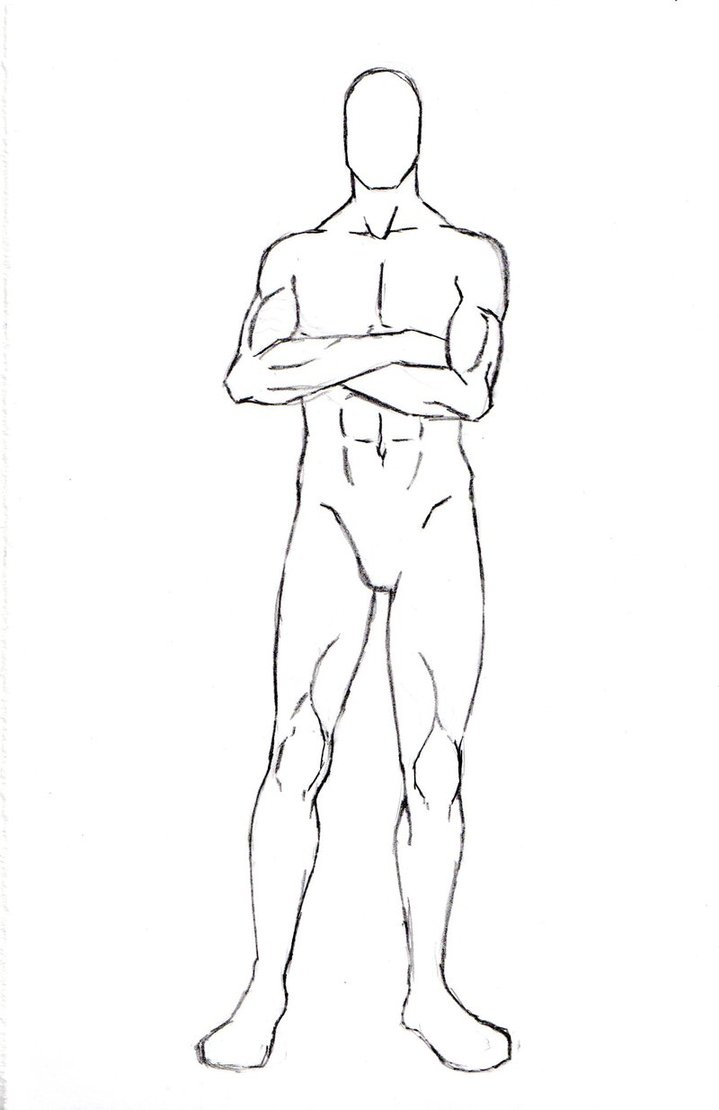 Manga clipart male pose Male No Character Figures: No