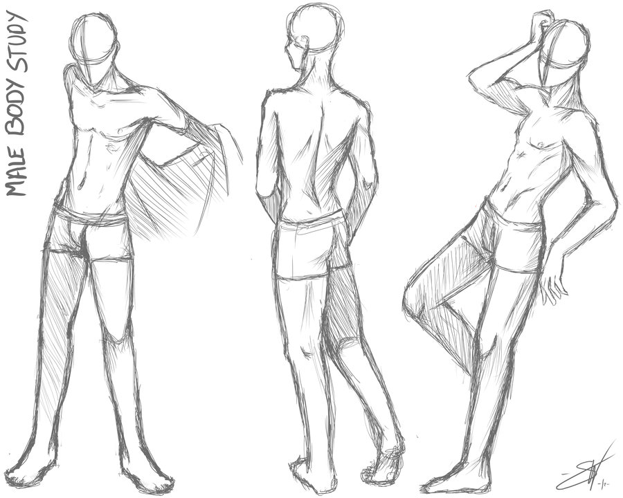 Manga clipart male pose Male on body How on