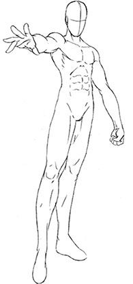 Manga clipart male pose Shape Draw G Manga Running