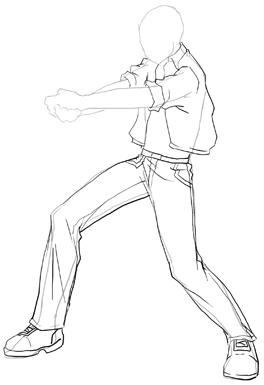 Manga clipart male pose : Add Poses Anime Step
