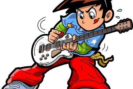 Manga clipart rocker Star player guitar Clip Art