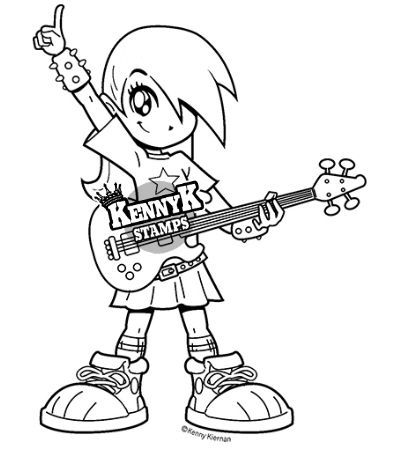 "Manga clipart rocker Girl card by stamp ""Girl"