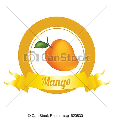 Mango clipart logo Abstract label special royalty
