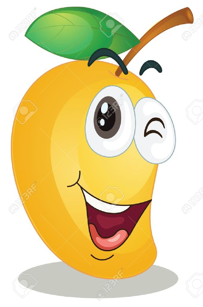 Mango clipart orange fruit Mango clipart mango Cute clipart