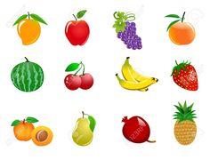 Mango clipart orange fruit  banana pineapple art clipart