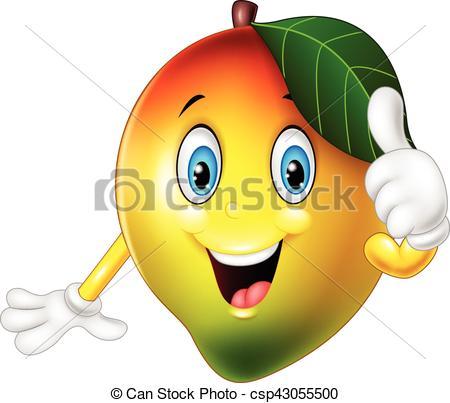 Mango clipart thumbs up Up Cartoon of csp43055500 Vector