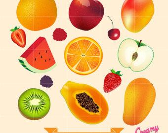 Mango clipart watermelon Design Digital / Download Digital