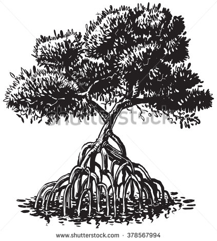 Mangrove clipart Or #illustration #clipart # black
