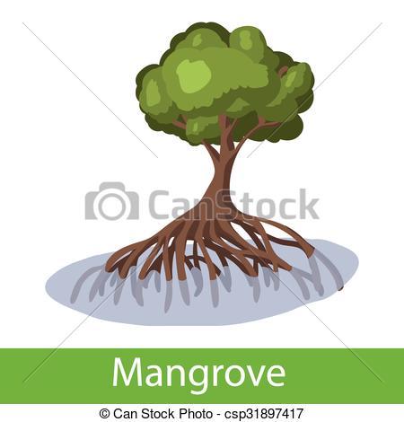 Mangrove clipart Cartoon  tree Single of