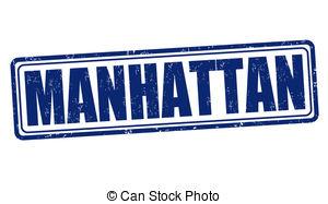 Manhattan clipart  Clip stamp Manhattan