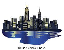 Manhattan clipart  Manhattan  Skyscrapers 981