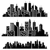 Manhattan clipart Skyline cities Vector Art Manhattan