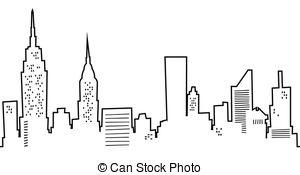 Manhattan clipart Free Manhattan Cartoon Skyline 425