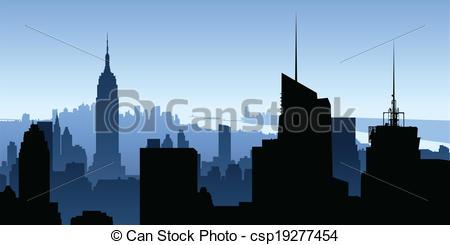 Manhattan clipart Manhattan Clipart csp19277454 Skyscrapers of