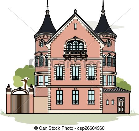 Mansion clipart Vector mansion Art a