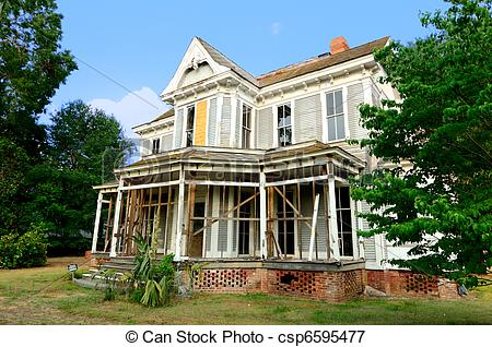 Mansion clipart abandoned house Old Abandoned csp6595477 An Old
