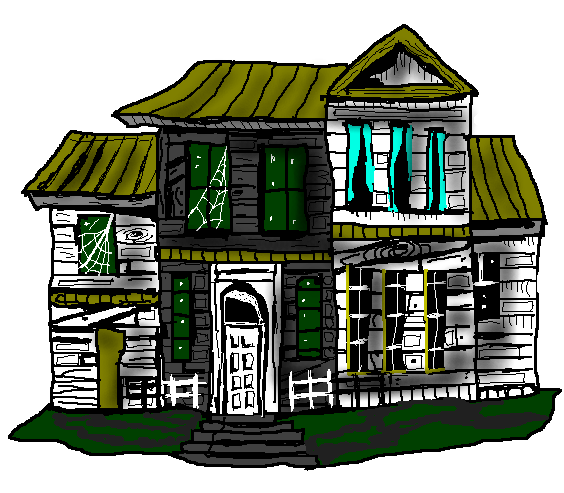 Spooky clipart haunted mansion Haunted decorations Public You Free