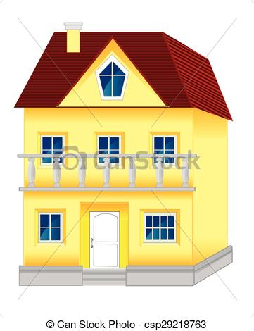 Hosue clipart big house Vector  beautiful on Big