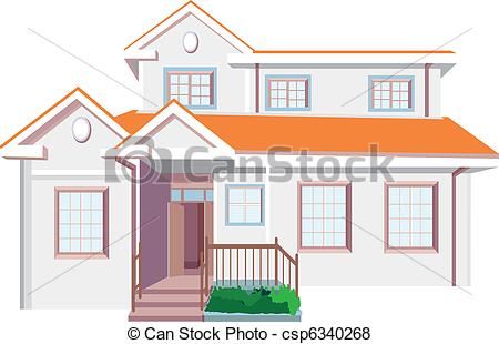 Hosue clipart beautiful house House with csp6340268 house and