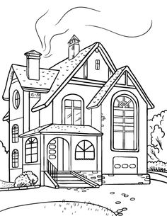 Scenery clipart beautiful house #8