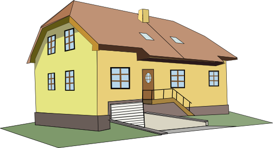 Hosue clipart big house Domain Houses Public Free Art