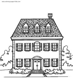 White House clipart cottage Black and house white house