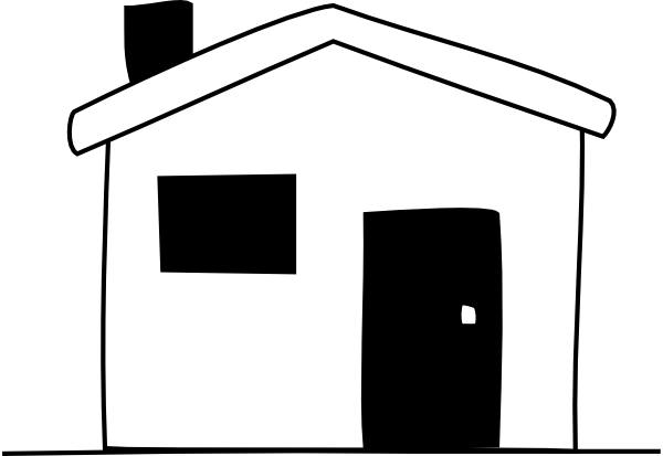 Building clipart white house Art Free library Clipart Black