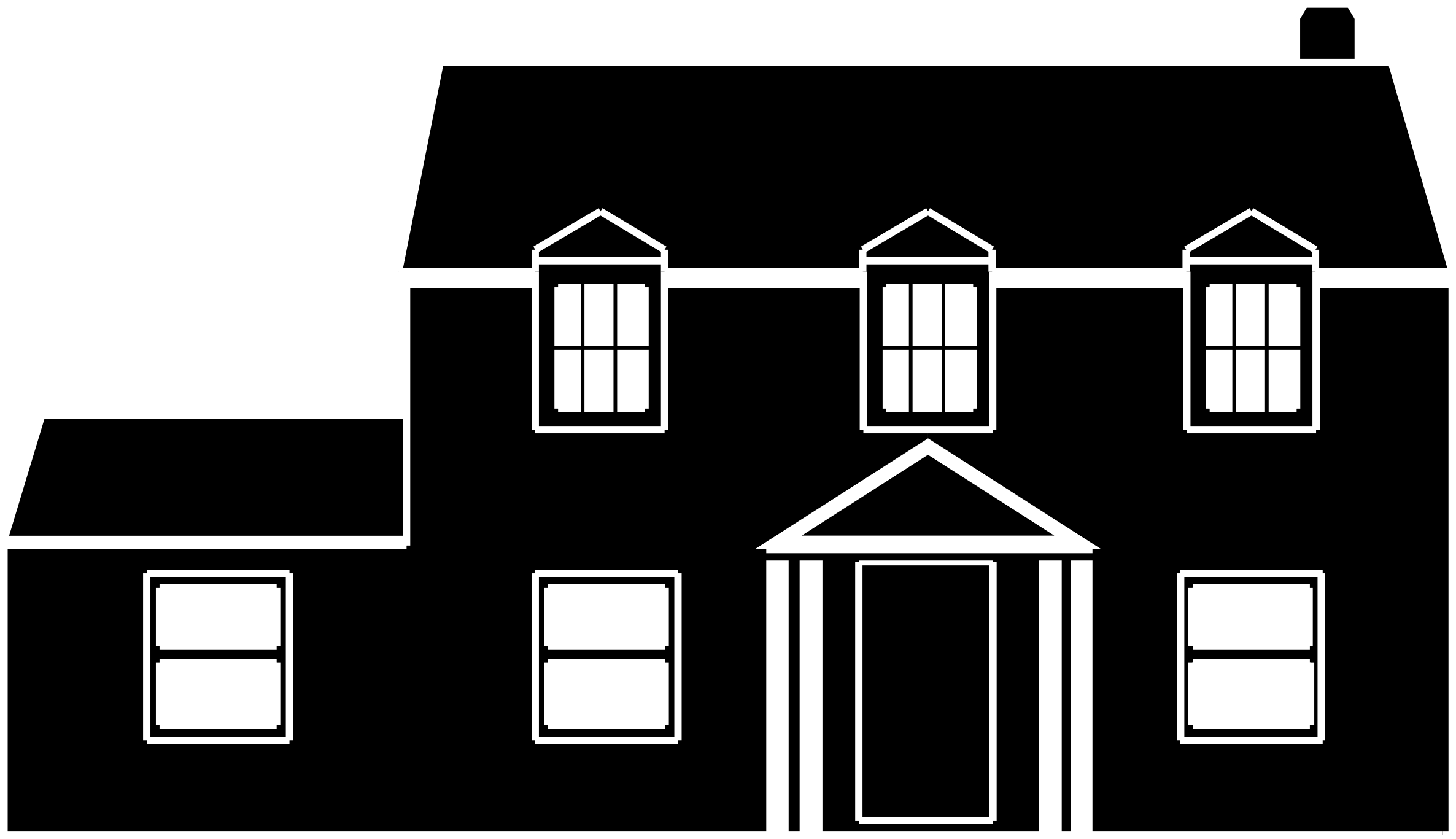 House clipart hous House white and and black