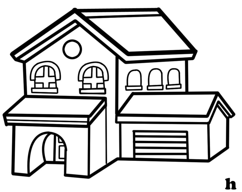 White clipart houseblack White clipart and black House