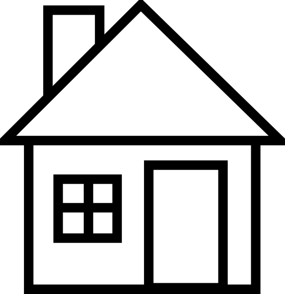 Mansion clipart building outline Black Black Clip Clipart And