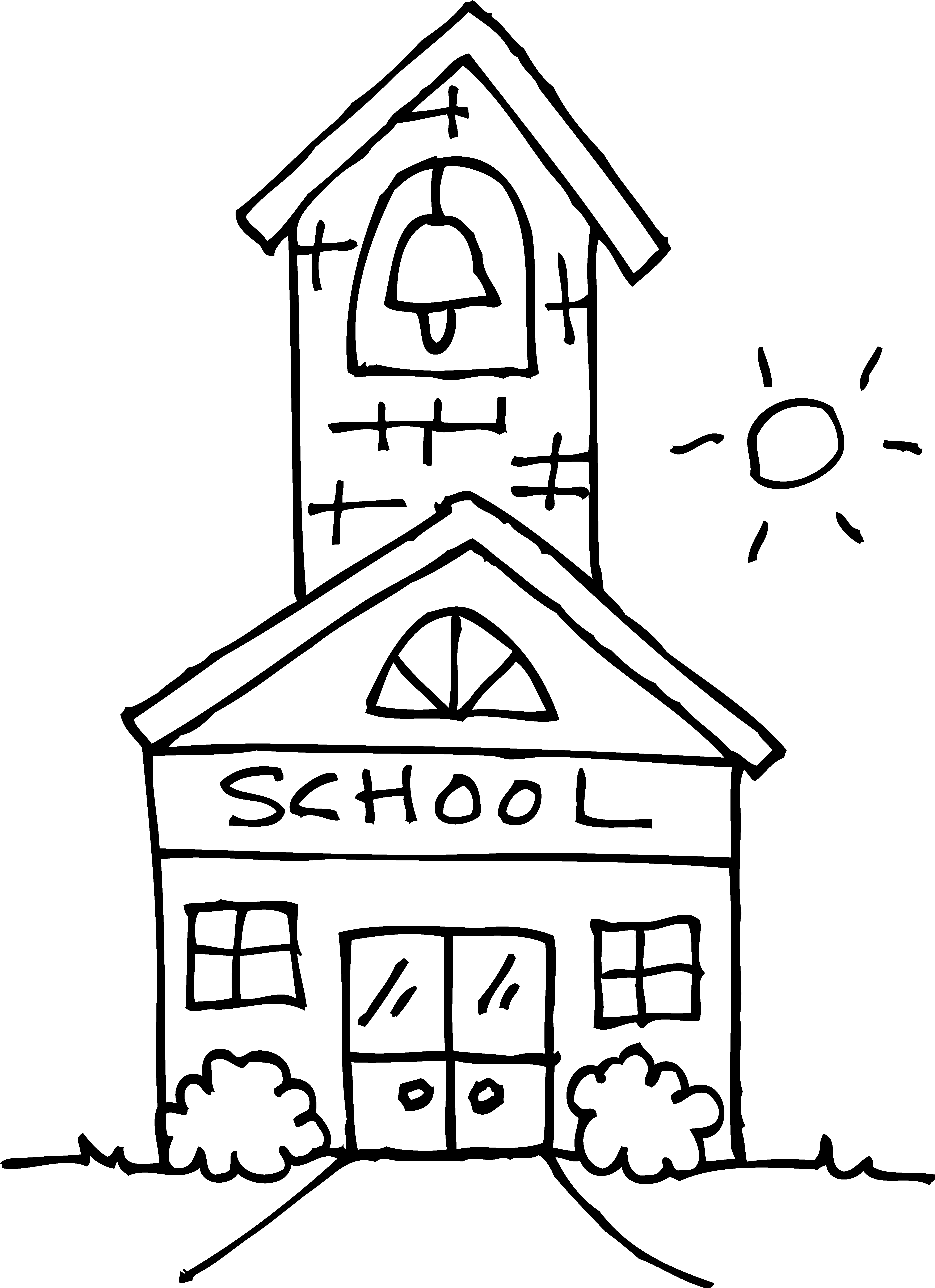 Mansion clipart building outline House house Cartoon school clip