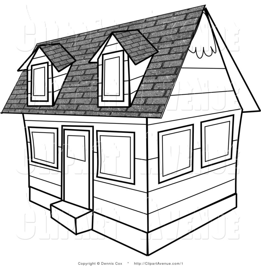 Mansion clipart building outline And and White clipart house