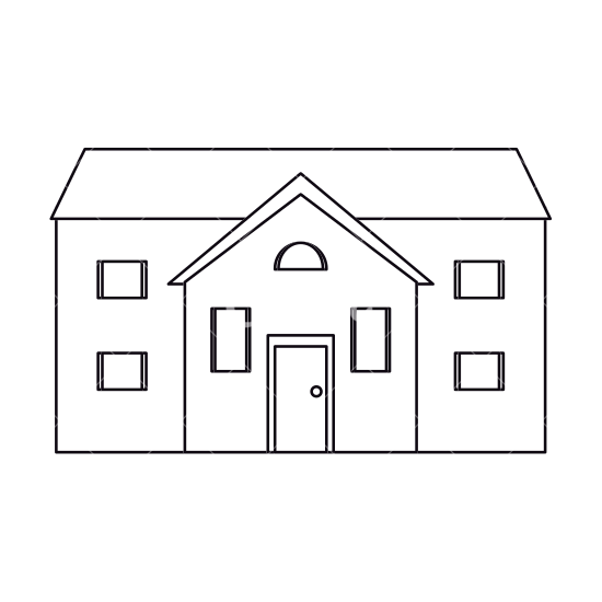 Mansion clipart building outline Canva Town House Outline Style
