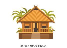 Hosue clipart bungalow Illustration of easy of Vector