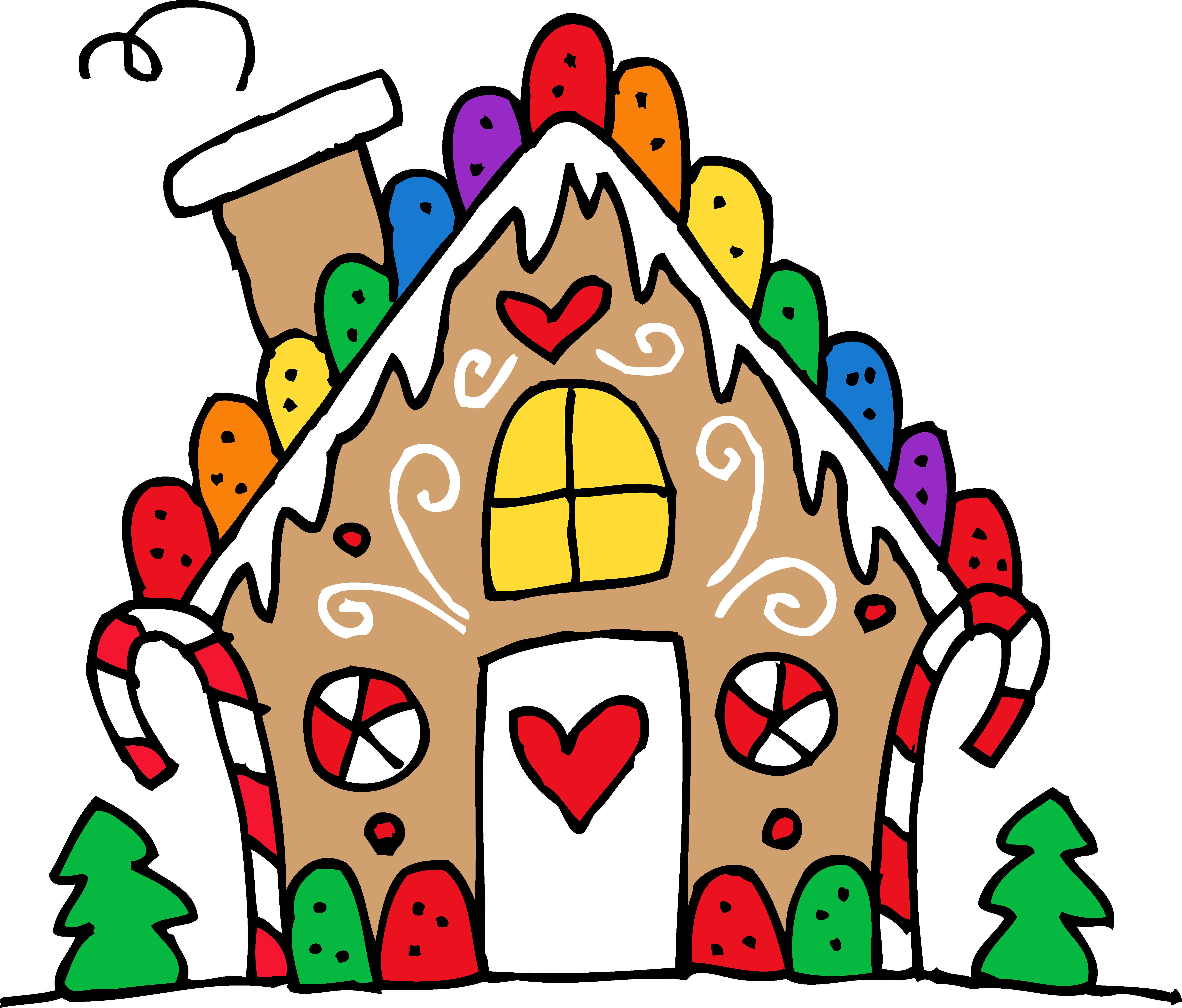 Mansion clipart colorful House gingerbread Cute free clipart