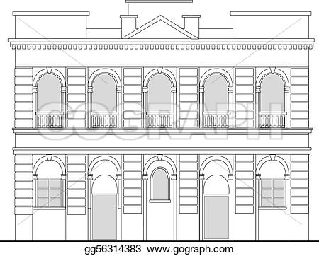 Mansion clipart heritage Illustration drawing from mansion building