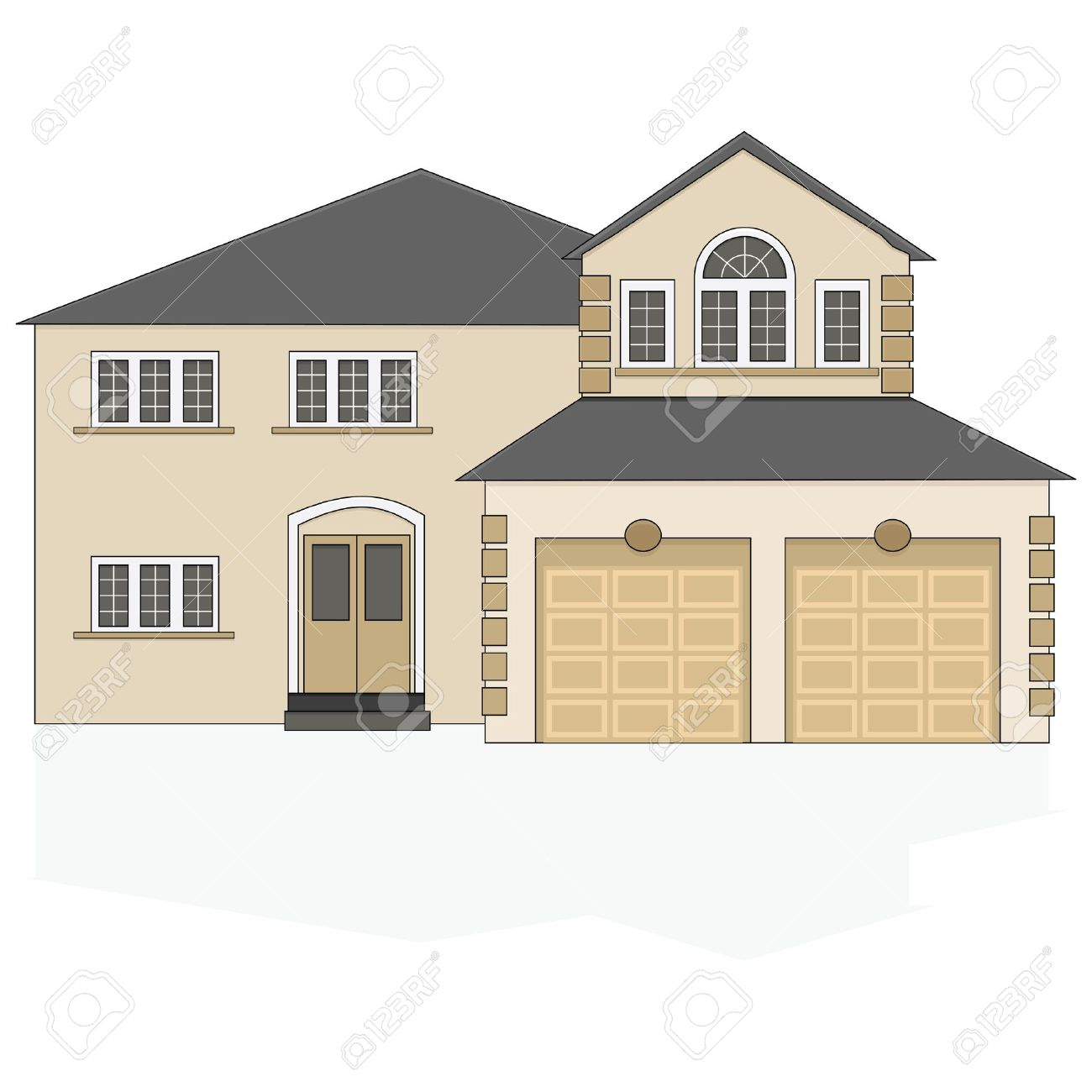 Hosue clipart big house Large Illustration clipart Of house