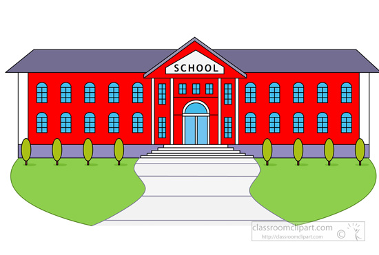 Larger clipart school building Free illustrations graphics Clipart Download