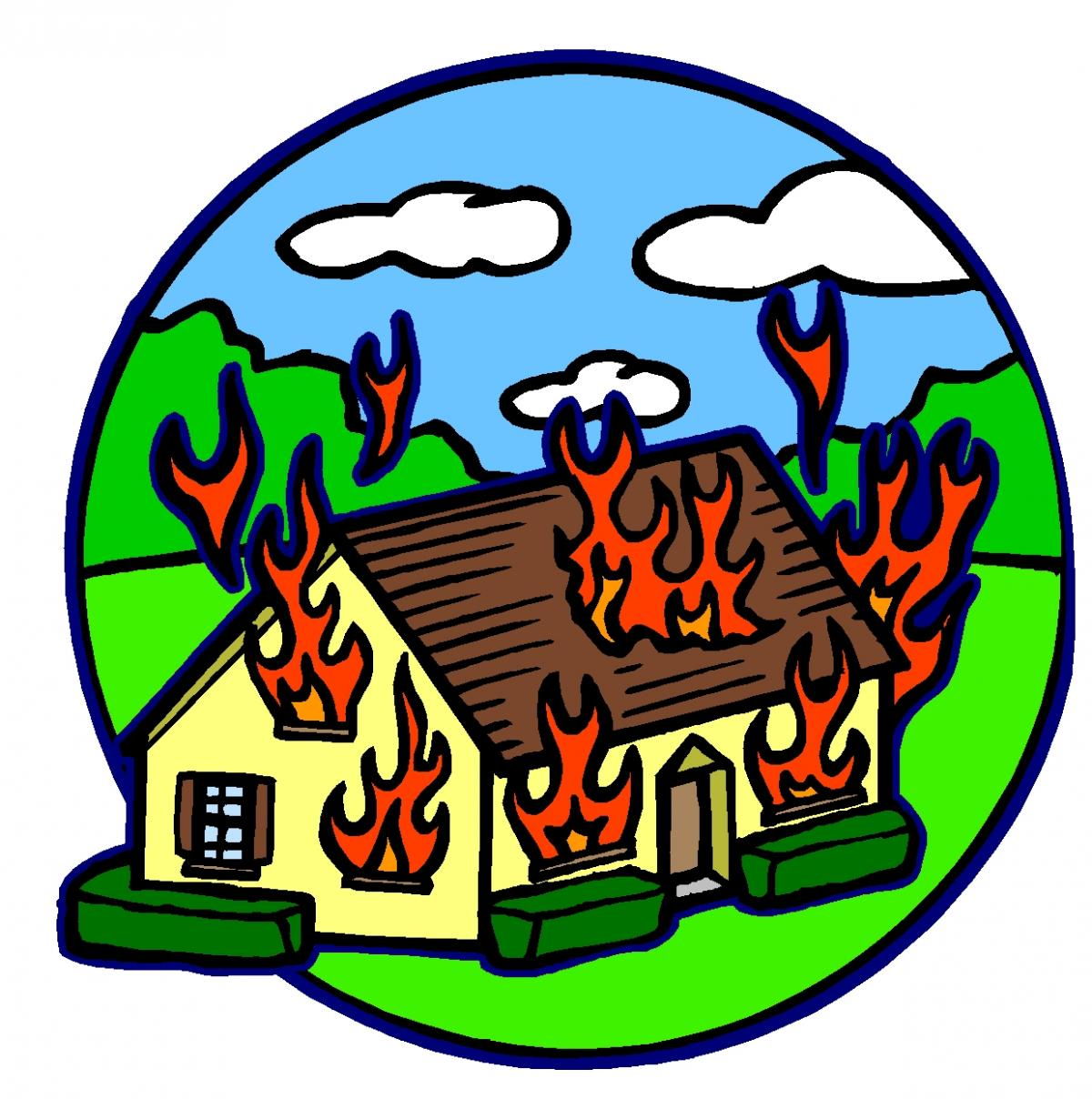 Mansion clipart on fire Fire House Clip Art Cliparts