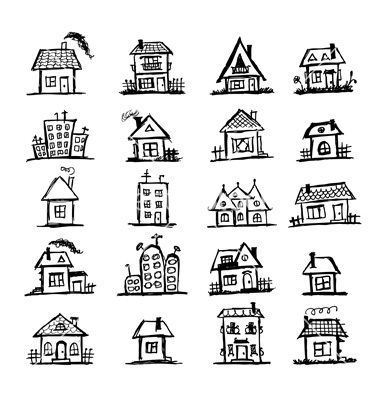 Mansion clipart simple house front On VectorStock® on House art