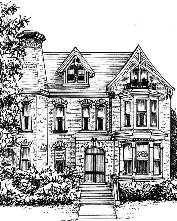 Mansion clipart simple house front Drawing Black Best white Pinterest