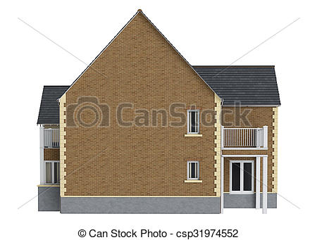 Mansion clipart simple house front Mansion brick view brick front