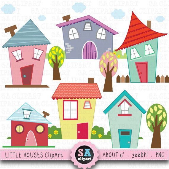 Scenery clipart cute house #2