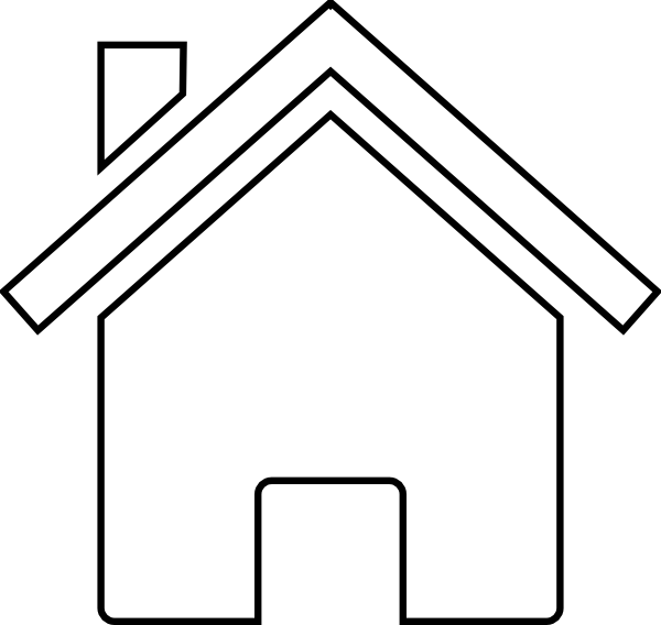 Rooftop clipart house outline #8