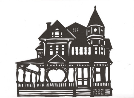 Old House clipart large house On Etsy hilemanhouse hilemanhouse silhouette