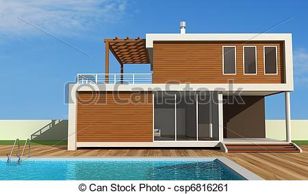 Mansion clipart villa Modern house holiday villa villa